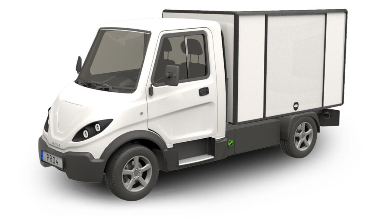 Elbil med stor i-BOX och jalusidörrar som extra tillval